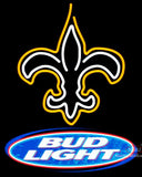 Bud Light New Orleans Saints NFL Neon Sign