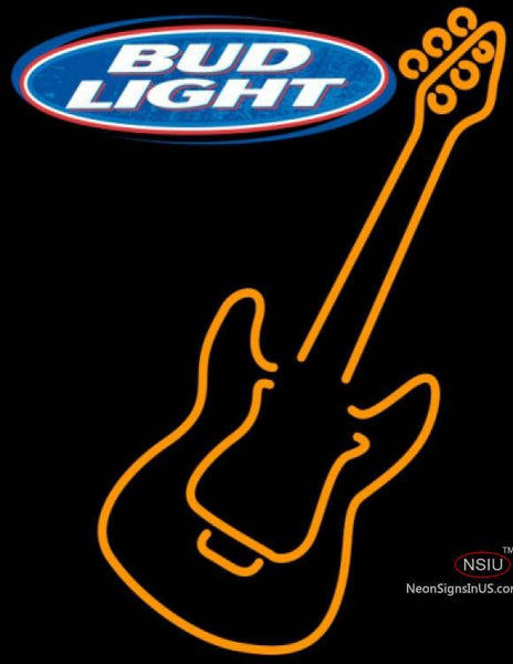 Bud Light Only Orange GUITAR Neon Sign