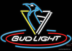 Bud Light Penguins Real Neon Glass Tube Neon Signs