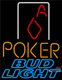 Bud Light Poker Squver Ace Neon Beer Sign