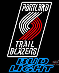 Bud Light Portland Trail Blazers NBA Neon Sign