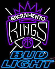 Bud Light Sacramento Kings NBA Neon Sign