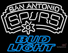Bud Light San Antonio Spurs NBA Neon Sign