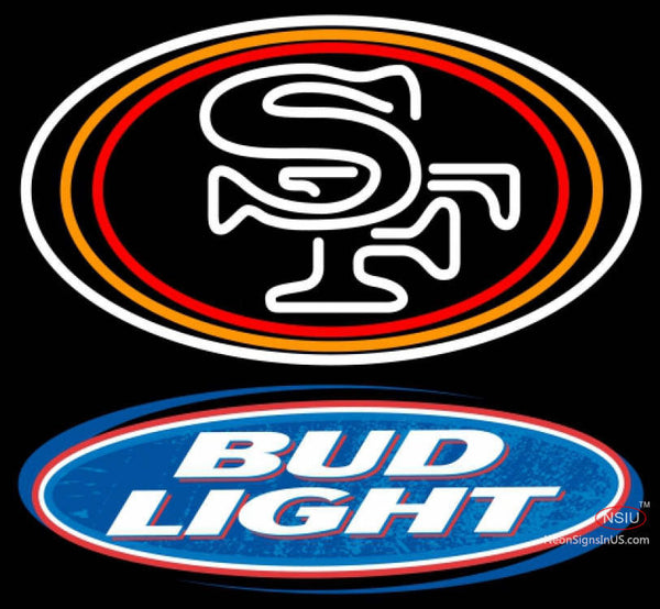Bud Light San Francisco ers NFL Neon Sign