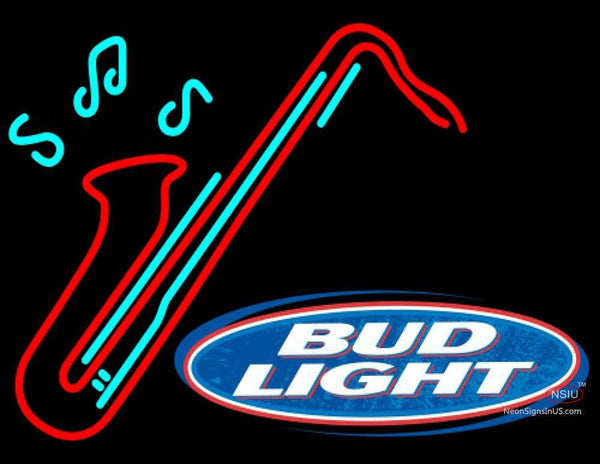 Bud Light Saxophone Neon Sign