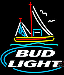 Bud Light Shrimp Boat Neon Beer Sign