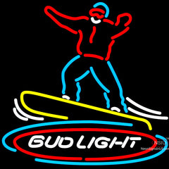 Bud Light Snowboarder Neon Beer Sign