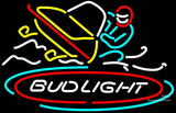 Bud Light Snowmobile Neon Beer Sign