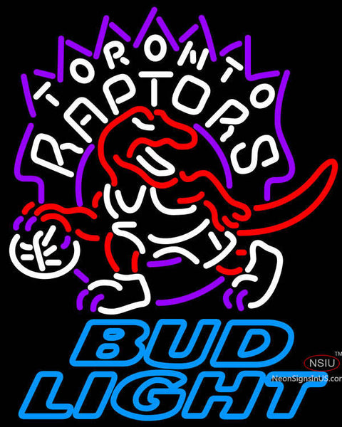 Bud Light Toronto Raptors NBA Neon Sign