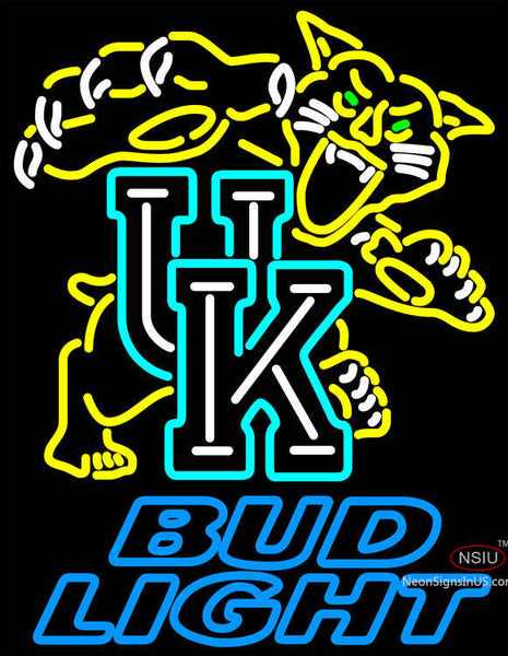 Bud Light UK Kentucky Wildcats Logo Neon Sign NCAA