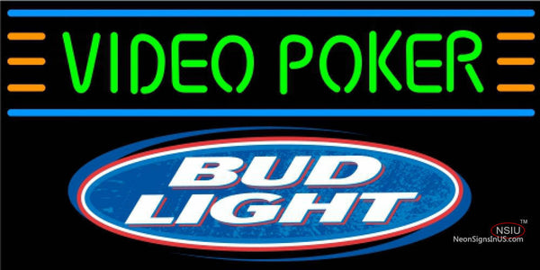 Bud Light Video Poker Neon Sign 7
