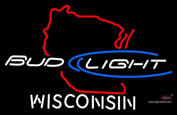 Bud Light Wisconsin Neon Sign