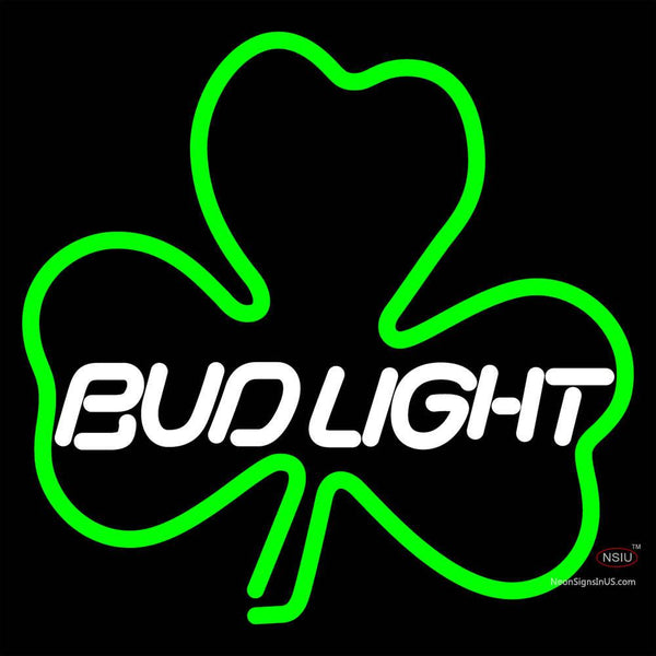 Budlight Green Clover Neon Sign x