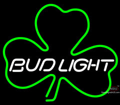 Bud Light Green Clover Neon Sign x