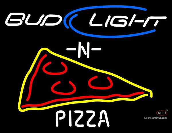 Budlight N Pizza Neon Sign