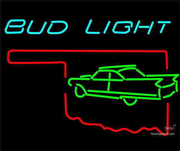 Budlight Oklahoma Calidac Green Color Neon Sign