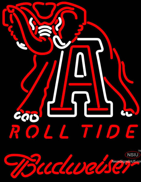 Budweiser Alabama Roll Tide Neon Sign