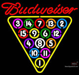 Budweiser Ball Rack Billiards Neon Beer Sign