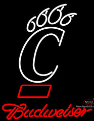 Budweiser University Of Cincinnati Bearcats Neon Beer Sign