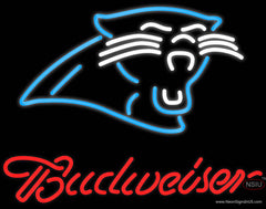 Budweiser Carolina Panthers NFL Real Neon Glass Tube Neon Sign
