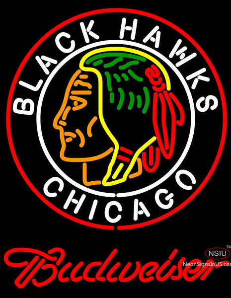 Budweiser Commemorative  Chicago Blackhawks Neon Sign