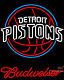 Budweiser Detroit Pistons NBA Neon Sign
