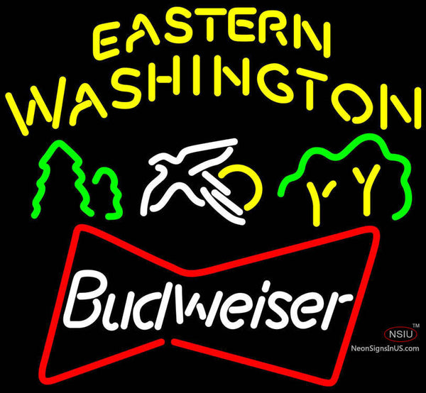Budweiser Eastern Washington Neon Beer Sign