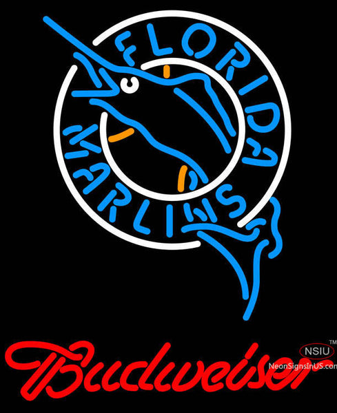 Budweiser Florida Marlins MLB Neon Sign
