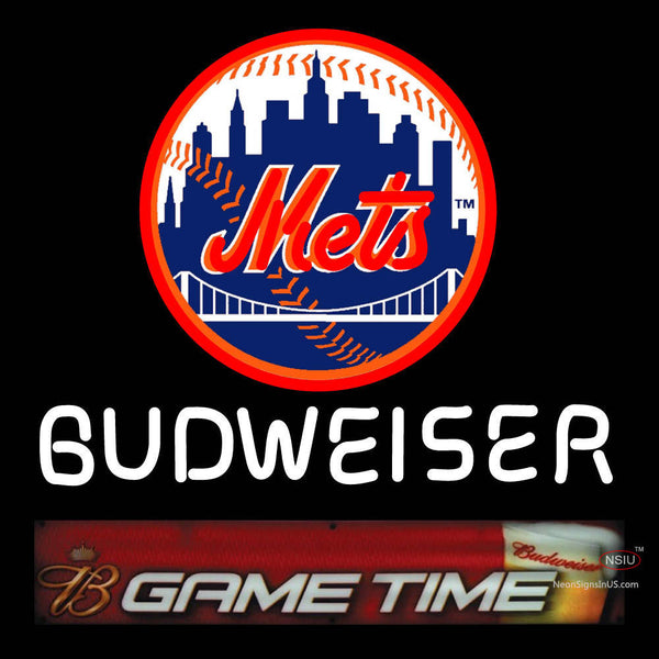 Budweiser Game Time Mets Neon Sign