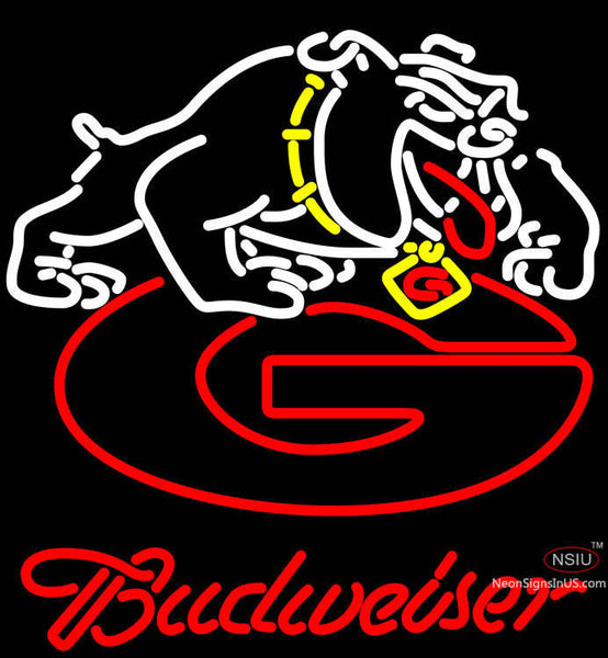 Budweiser Georgia Bulldogs Uga Logo Neon Sign Ncaa