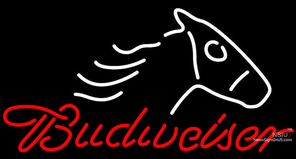 Budweiser Horse Head Neon Beer Sign