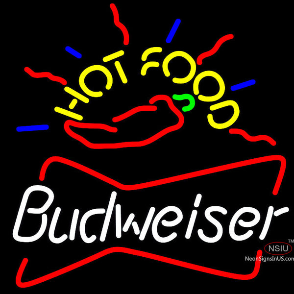 Budweiser Hot Food Neon Beer Sign x