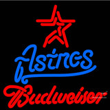 Budweiser Houston Astros MLB Neon Sign