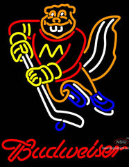 Budweiser Minnesota Golden Gophers Hockey Neon Sign