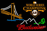 Budweiser Golden Gate SF Giants  World Series Neon Beer sign