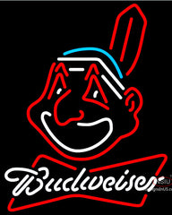 Budweiser Neon Cleveland Indians MLB Neon Sign