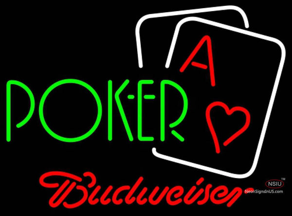 Budweiser Neon Green Poker Neon Sign 7