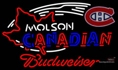 Budweiser Neon Molson Montreal Canadians Hockey Neon Sign