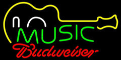 Budweiser Neon Music Guitar Handmade Art Neon Sign