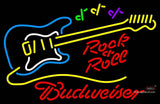 Budweiser Neon Rock N Roll Yellow Guitar Neon Sign  7