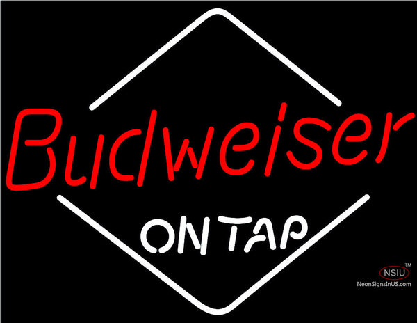 Budweiser Diamond On Tap Neon Beer Sign