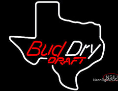 Bud Dry Texas State Neon Beer Sign