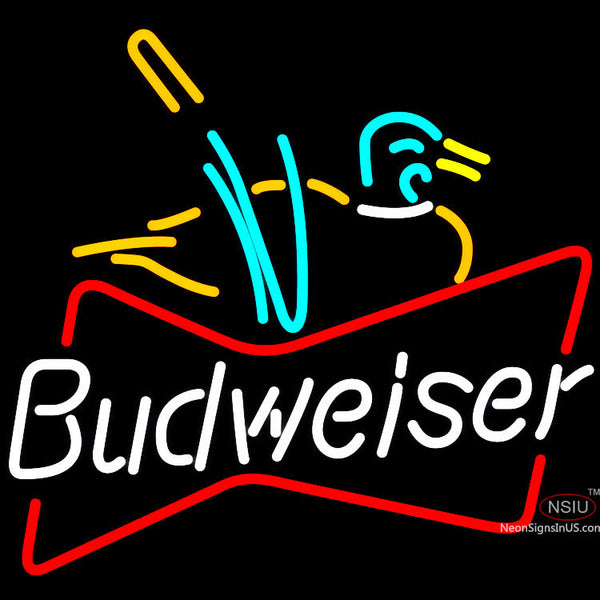 Budweiser Duck Neon Beer Sign