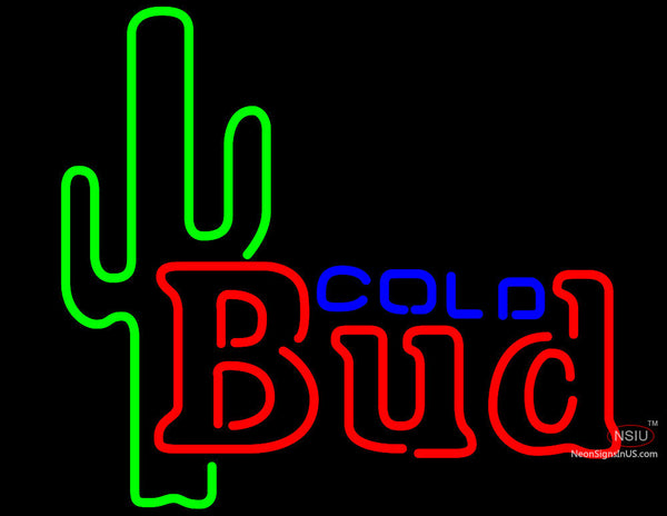 Budweiser Cold Cactus Neon Beer Sign