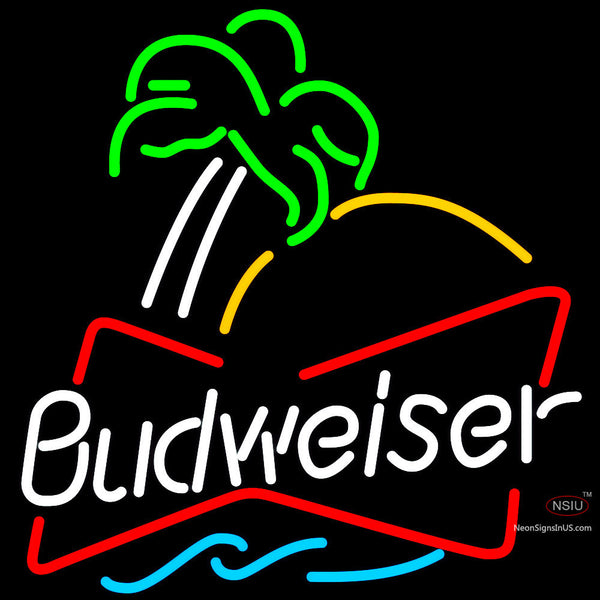 Budweiser Single Palm Tree Neon Beer Sign