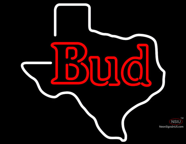 Bud Texas State Neon Beer Sign