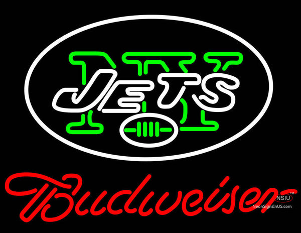 Budweiser Jets Neon Beer Sign