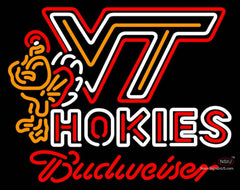 Budweiser Neon Virginia Tech Vt Hockey Logo Sign  7