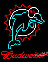 Budweiser Miami Dolphins NFL Neon Sign