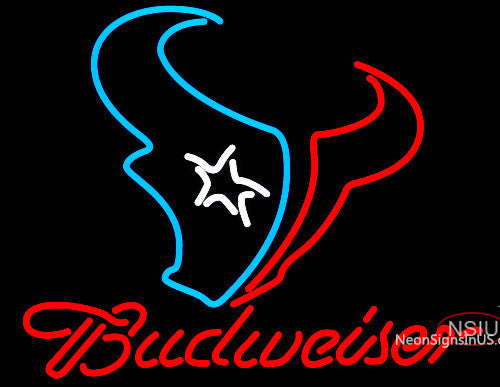 Budweiser Houston Texans NFL Neon Sign